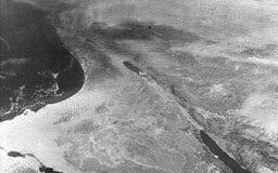Satelitt-bilde av Sinai-halvøya.
