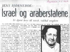 Denne artikkelen av Jens Bjørneboe stod på trykk i Dagbladet 4. november 1967.