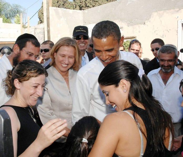 Barack Obama i den israelske byen Sderot under presidentvalgkampen i 2008.