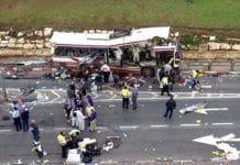 Tre palestinere fra Øst-Jerusalem har vært i kontakt med al-Qaida for å planlegge større terrorangrep i Israel, melder Shin Bet. (Illustrasjonsfoto: En israelsk buss rammet av en selvmordsterrorist under den andre intifadaen)