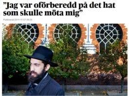 Jødehatet vokser i Malmø i Sverige. Faksmile fra DN.se 7. november 2011.