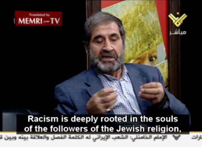 Tamer Mustafa på tv-stasjonen Al-Manar 12. oktober 2011.
