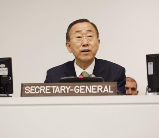 FNs generalsekretær Ban Ki-moon.