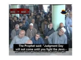 Fra fredagsbønnen sendt på Hamas TV fredag 2. desember 2011. (Skjermdump via MEMRI)