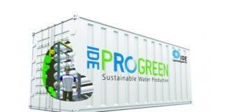 Avsaltingsanlegg i en container. (Foto: IDE Technologies)