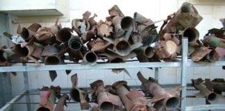 Kassam-raketter avfyrt fra Gaza mot byen Sderot. (Foto: Conrad Myrland, MIFF)