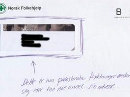 Konvolutten til Norsk Folkehjelps julekampanje 2011.