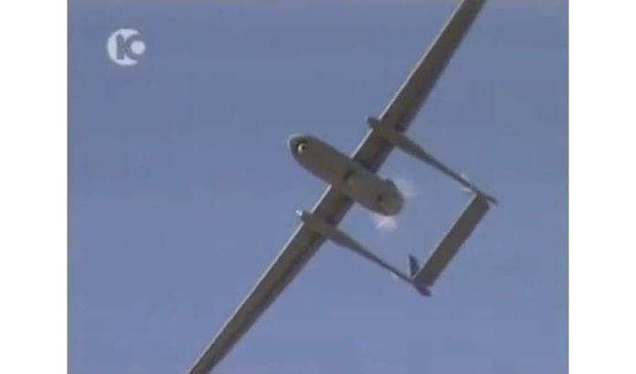 Israelsk Heron-drone. (Skjermdump: Kanal 10/ YouTube)
