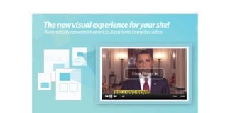 Wibbitz konverterer tekst i artikler til interaktiv video. (Skjermdump Wibbitz.com)