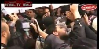 Skjermdump fra video på internett som viser Haniyehs ankomst til Tunisia.