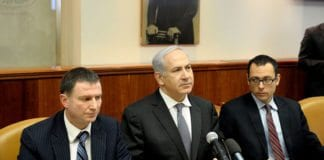 Statsminister Benjamin Netanyahu i regjeringsmøtet 22. januar 2012. (Foto: GPO)