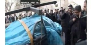 Bilde fra åstedet i Teheran. (Skjermdump fra Press TV)