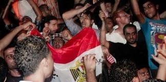 Egyptiske demonstranter utenfor Israels ambassade høsten 2011. (Illustrasjonsfoto: Maggie Osama, flickr.com)