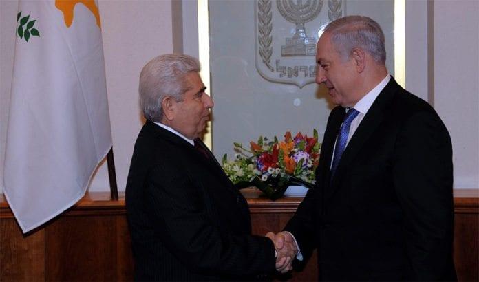 President Dimitris Christofias fra Kypros og statsminister Benjamin Netanyahu. (Foto: GPO)