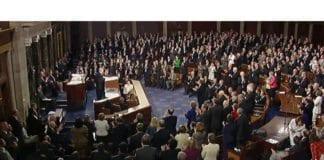 Skjermdump fra Benjamin Netanyahus tale til Kongressen.