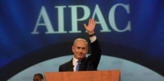 Statsminister Benjamin Netanyahu taler til AIPAC. (Foto: Amos Ben Gershom, GPO)