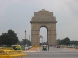 "Berømte ""India Gate"" i New Dehli. (Foto: David Owers)"