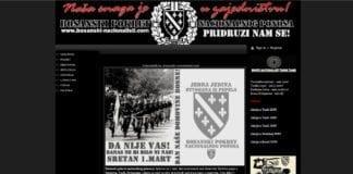 Hjemmesiden til Bosnisk bevegelse for nasjonal stolthet (BPNP). (Foto: Skjermdump fra bosanski-nacionalisti.com)