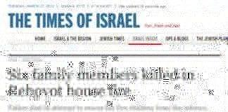 Kun moren i en familie på sju overlevde en brannulykke i Rehovot (Foto: Skjermdump, Times of Israel)