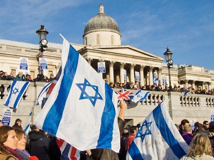 Fra en pro-israelsk demonstrasjon i London i januar 2009. (Foto: Chris Beckett, flickr.com)