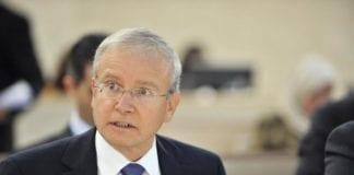 Israels ambassadør til Menneskerettighetsrådet, Aharon Leshno-Yaar, sendte klagebrev til FN da det ble klart at en Hamas-representant skulle tale på mandagens samling. Han fikk delvis gjennomslag. (Foto: UN Photo Geneva)