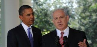 USAs president Barack Obama (f.v.) og Israels statsminister Benjamin Netanyahu møttes mandag kveld i Det hvite hus for å drfte Iran-spørsmålet. Foto: (Moshe Milner, GPO)