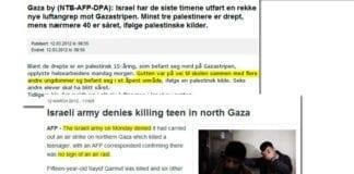 Skjermdump av NTBs artikkel på adressa.no og AFPs artikkel på france24.com.