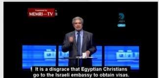En egyptisk fjernsynspersonlighet går til frontalangrep på koptiske kristne i hjemlandet. (Foto: Skjermdump fra YouTube-klipp)
