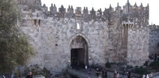 Damaskus-porten i enden av den arabiske bydelen i Jerusalem. (Foto: flickr.com)