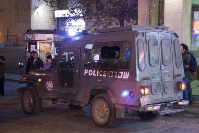 Israelsk politibil i Jerusalem. (Illustrasjon: flickr.com)