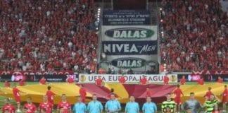 Fra Hapoel Tel Avivs Europa League-kamp mot Celtic i 2009. (Illustrasjon: Alex Jilitsky)