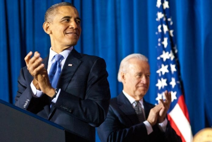 President Barack Obama (f.v.) og visepresident Joe Biden. (Foto: Barack Obama, flickr.com)
