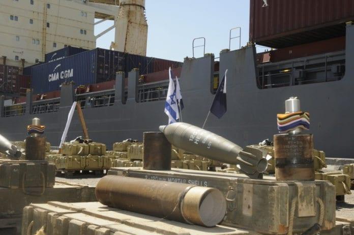 Våpen funnet ombord i skipet