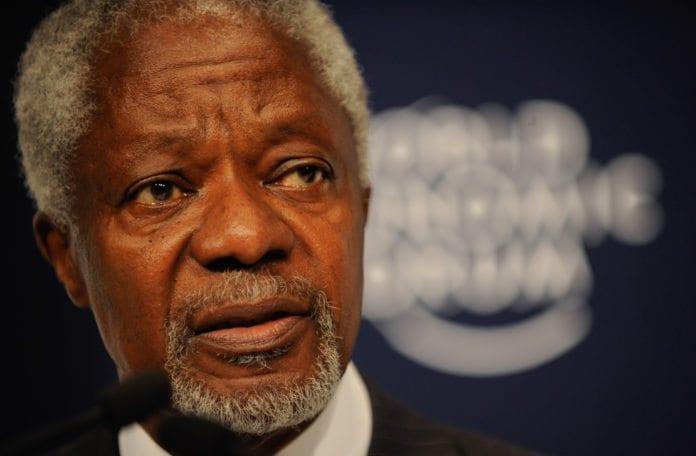 Kofi Annan kritiserer syriske myndigheter for å ikke ha fulgt opp sine forpliktelser. (Foto: Matthew Jordan, WEF)