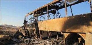 Bussen som ble rammet sist Eilat-området opplevde et terrorangrep 18. august i fjor. (Foto: IDF)