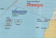 Illustrerende kart fra den israelske avisen Makor Rishon 15. juli 2011.
