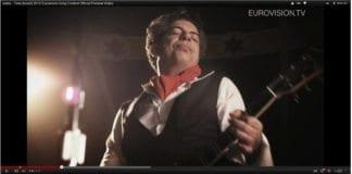 """Izabos låt """"Time"""" er ikke blant favorittene i årets første Eurovision-delfinale. (Foto: Skjemdump fra Eurovision.tv)"""