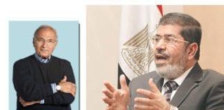 General og statsminister Ahmed Shafiq (t.v.) fikk 24,9 prosent av stemmene i første runde av presidentvalget. Han ble bare slått av Det muslimske brorskapets Mohammed Morsi.