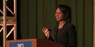 USAs tidligere utenriksminister Condoleezza Rice mener 11. september førte Israel og USA enda tettere sammen. (Foto: World Affairs Council of Philadelphia)