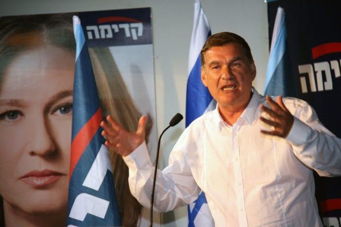 Haim Ramon er så skuffet over at Shaul Mofaz tok med Kadima inn i regjeringen, at han nå har valgt å trekke seg. (Foto: Tzipi Livni)