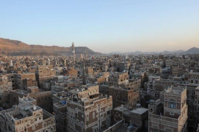 Oversiktsbilde over gamlebyen i Jemens hovedstad, Sanaa. (Foto: Ammar Abd Rabbo)