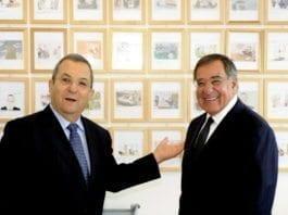 Israels forsvarsminister Ehud Barak (f.v.) og USAs forsvarsminister Leon Panetta. (Foto: Den amerikanske ambassaden i Tel Aviv)
