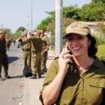 Miri Regev, da hun fortsatt tjenestegjorde som pressetalskvinne for IDF i 2005. (Foto: GPO)