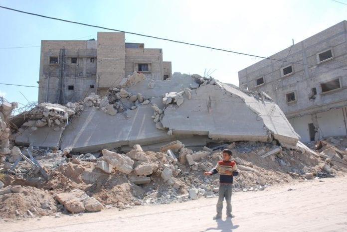 Mange bygninger ble ødelagt på Gaza under krigen mellom Israel og Hamas i årsskiftet 2008/2009. (Foto: Christian Lilleheim)