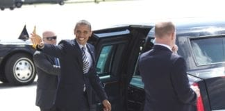 USAs president Barack Obama (i midten). (Foto: Joe Bielawa)