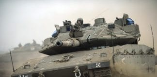 Israelsk stridsvogn (Illustrasjon: Michael Shvadron, IDF)