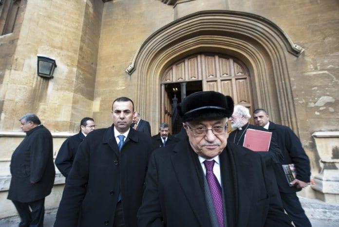 Fremst i bildet: PA-president Mahmoud Abbas. (Foto: Den katolske kirke i England og Wales)