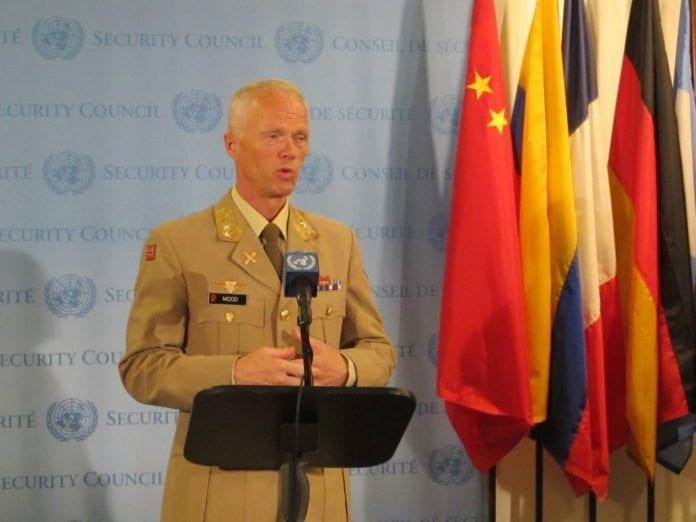 Den norske lederen for FNs observatørstyrker i Syria, Robert Mood. (Foto: Norges ambassade i New York)