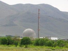 Tungtvannsanlegg i Arak i Iran. (Foto: Wikimedia Commons)