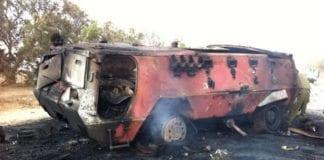 Et av de egyptiske kjøretøyene ble tilintetgjort av et IAF-helikopter. (Foto: Avital Leibovich, IDFs pressekontor)